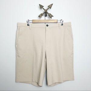 Izod men's khaki golf shorts Sz 36
